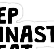 Eat Sleep Gymnastics Repeat Sticker