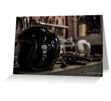 Haarlem Motorcycle Garage Greeting Card