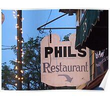 phil's restaurant wakefield rhode island Poster