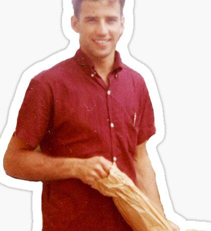 Young Joe Biden Sticker Sticker