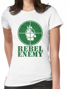 Rebel Enemy Green Womens Fitted T-Shirt