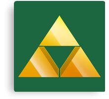 Zelda Triforce 3D - Green Canvas Print