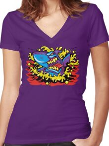Shark Week Women's Fitted V-Neck T-Shirt