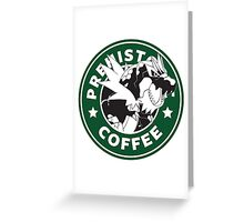 Prehistoric Coffee Greeting Card