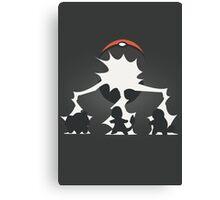 Pokemon Starter Silhouette Canvas Print