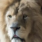 Lion Portrait Watercolour by Chris Thaxter