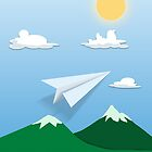 Paper Airplane 61 by YoPedro