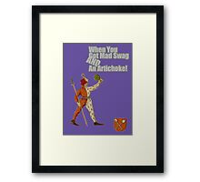 Haters Gon' Hate on the Mad #Swag! Framed Print