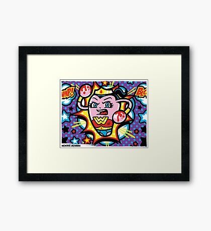 Wonder Womban Framed Print