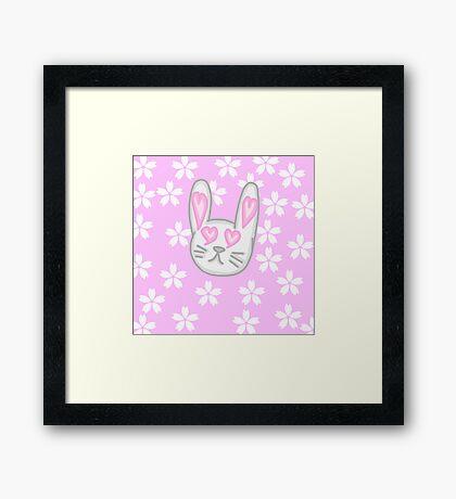 Kawaii Bunny  Framed Print