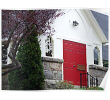 wakefield, rhode island,  red door church Poster