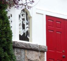 wakefield, rhode island,  red door church Sticker