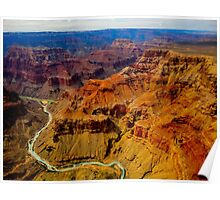 Grand Canyon as seen from a helicopter Poster