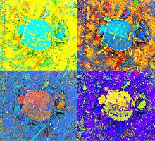 A Sequence of Toddler Turtles – Yellow & More by Mike Solomonson
