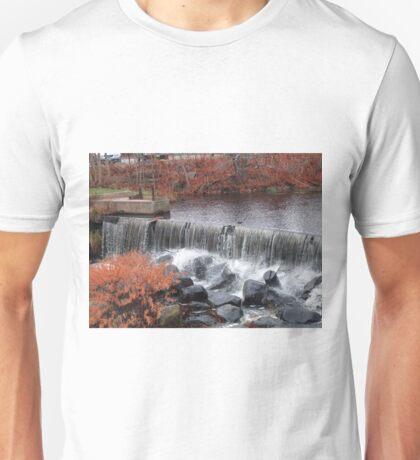 wakefield rhode island waterfall 2 Unisex T-Shirt