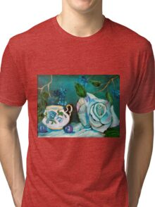 Turquoise Rose Tri-blend T-Shirt