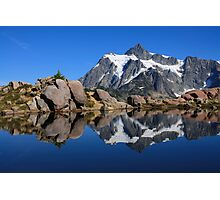 Mount Shuksan reflected in a mountain pond near Huntoon Point Photographic Print