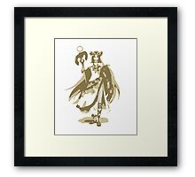 Minimalist Palutena from Super Smash Bros. 4 (Style 2) Framed Print