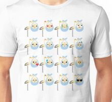 Stork with Baby Hamster Emoji Different Facial Emotion Unisex T-Shirt