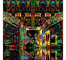 PSYCHEDELIC PARKING LEVEL Photographic Print