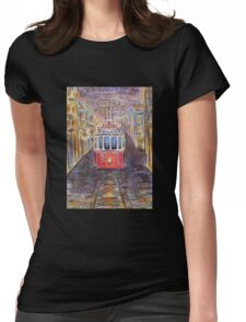 old tram  Womens Fitted T-Shirt
