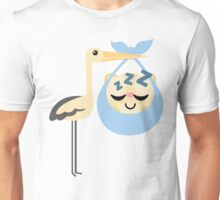 Stork with Baby Hamster Emoji Tired and Sleep Unisex T-Shirt
