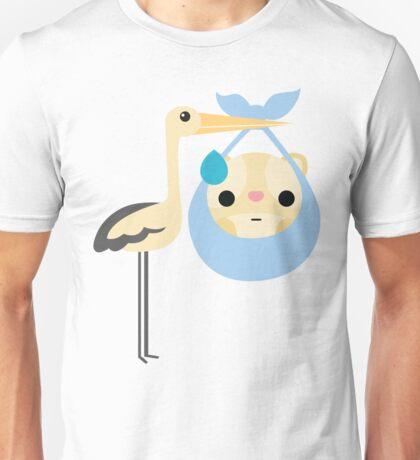 Stork with Baby Hamster Emoji Sweat and Speechless Unisex T-Shirt