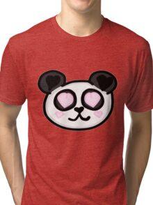 Kawaii Panda Love Tri-blend T-Shirt