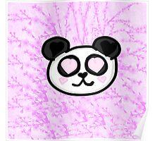 Kawaii Panda Love Poster