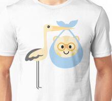 Stork with Baby Hamster Emoji Nerd Noob Glasses Unisex T-Shirt