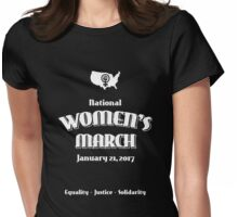 National Women's March -- January 21, 2017 Womens Fitted T-Shirt