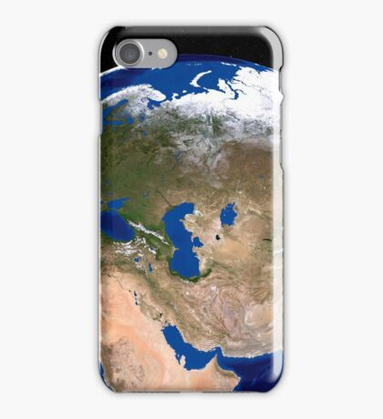 The Blue Marble Next Generation Earth showing the Middle East. iPhone Case/Skin