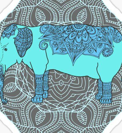 Elephant, mandala background Sticker