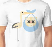 Stork with Baby Hamster Emoji Faint and Knock Out Face Unisex T-Shirt