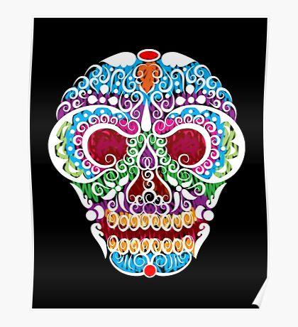 Cool Curl Skull Poster