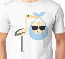 Stork with Baby Hamster Emoji Cool Sunglasses Unisex T-Shirt