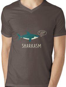 sharkasm Mens V-Neck T-Shirt