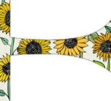Beta- Sunflower Greek Letter Sticker