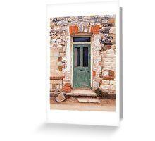 Door at Castle Acre Greeting Card