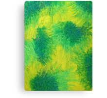 Geometric Lemon Lime Oil Pastel Etching Canvas Print