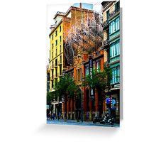 Art installation in Barcelona Greeting Card