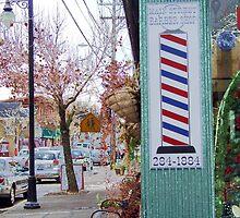 wakefield rhode island  barber shop by Maureen Zaharie