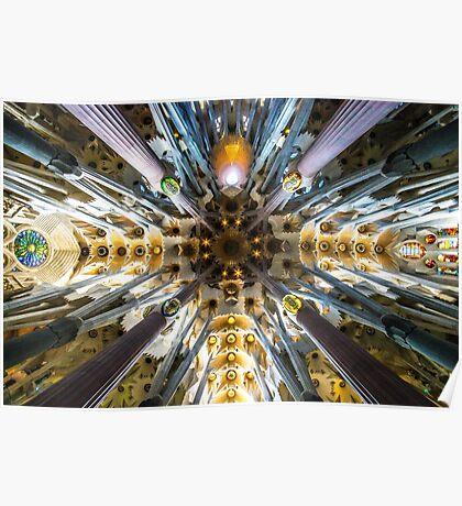The roof to Gaudi's masterpiece Sagrada Familia, Barcelona Poster