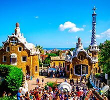 Park Guell in Barcelona, Spain - Gaudi by Luke Farmer