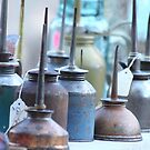 Oil Cans at Round Top by Olivia Moore