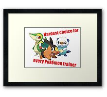 hard choice Framed Print