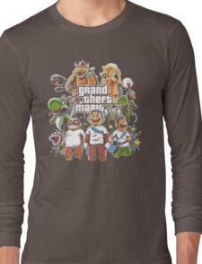 Grand Theft Mario Long Sleeve T-Shirt