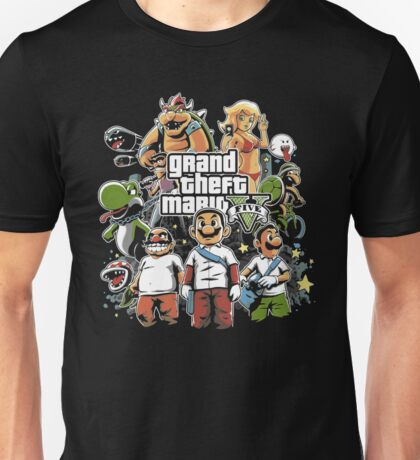 Grand Theft Mario Unisex T-Shirt