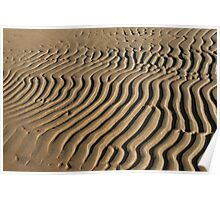 striped patterns in the sand Poster