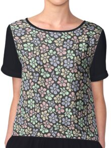 Cute retro color floral pattern Chiffon Top